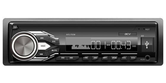 Автомагнитола ACV AVS-1712W 1DIN 4x45Вт автомагнитола acv ad 7160