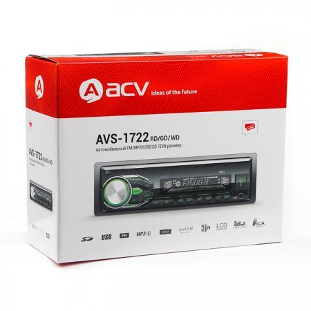 Автомагнитола ACV AVS-1722GD 1DIN 4x45Вт цена