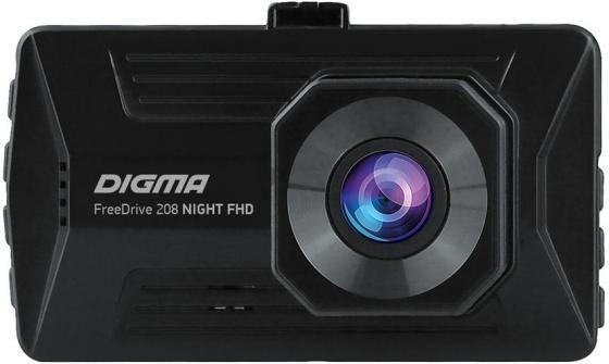 Видеорегистратор Digma FreeDrive 208 Night FHD черный 2Mpix 1080x1920 1080p 170гр. GP6248A видеорегистратор fhd 1080p цена