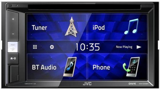 Автомагнитола CD DVD JVC KW-V250BT 2DIN 4x50Вт автомагнитола jvc kd r889bt