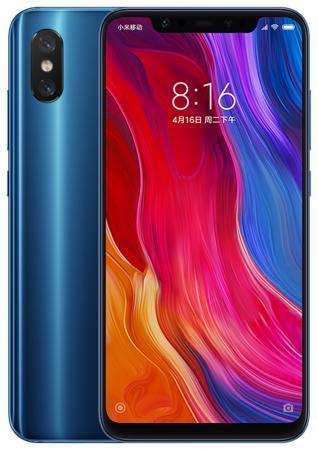 Смартфон Xiaomi Mi 8 синий 6.21 128 Гб LTE Wi-Fi GPS 3G Bluetooth NFC X19489 смартфон