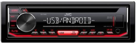 Автомагнитола CD JVC KD-T402 1DIN 4x50Вт автомагнитола jvc kd r491 usb mp3 cd fm rds 1din 4x50вт черный