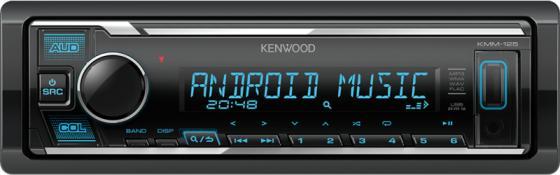 Автомагнитола Kenwood KMM-125 1DIN 4x50Вт