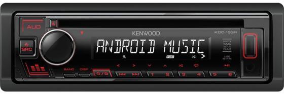 Автомагнитола CD Kenwood KDC-153R 1DIN 4x50Вт автомагнитола kenwood kmm 105gy 1din 4x50вт