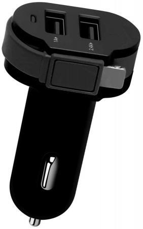 Автомобильное зарядное устройство Wiiix CH-U2-9-UMU 2.1A 2 х USB 8-pin Lightning черный автомобильное зарядное устройство wiiix ch u1 3 microusb 0 5 а черный