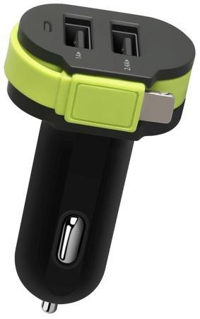 Автомобильное зарядное устройство Wiiix CH-U2-9-UTC 2.1A 2 х USB 8-pin Lightning черный автомобильное зарядное устройство wiiix ch u1 3 microusb 0 5 а черный