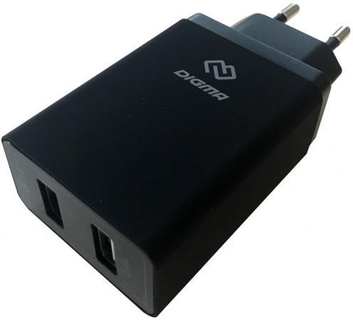 Фото - Сетевое зарядное устройство Digma DGWC-2U-QC3.0-BK 5.4А черный зарядное