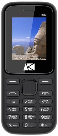 Мобильный телефон ARK U182 Benefit 32Mb черный моноблок 2Sim 1.8 128x160 BT GSM900/1800 TouchSc FM microSD max8Gb телефон мобильный ark benefit u281