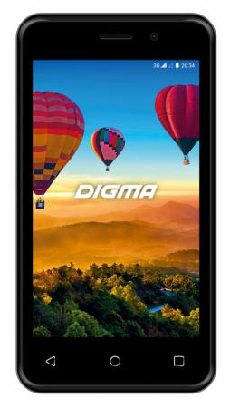 Смартфон Digma Alfa 3G Linx 4Gb 512Mb черный моноблок 3G 2Sim 4 480x800 Android 8.1 2Mpix 802.11bgn BT GPS GSM900/1800 GSM1900 TouchSc MP3 FM microSD max32Gb