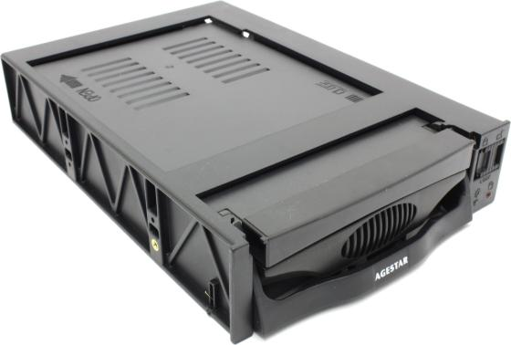"все цены на Сменный бокс для HDD AgeStar SR3P-SW-2F SATA пластик черный 3.5"" онлайн"