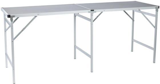 Стол походный Camping World Party Table Grey (цвет серый, размер 200*60*80 см, допустимая нагрузка 50кг)