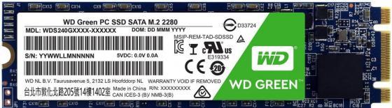 Накопитель SSD WD Original SATA III 480Gb WDS480G2G0B Green M.2 2280 ssd накопитель wd original 120gb wds120g2g0b green
