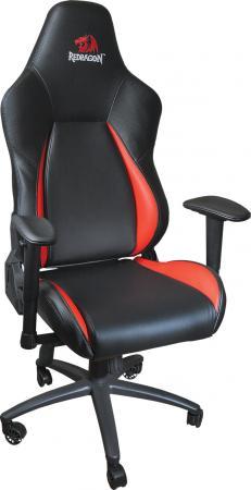 Кресло игровое Redragon Fury CT-386 Pro Черно-красный, макс 150 кг, искуственная кожа, полиуретан, подголовник, механизм качания топ-ган цена и фото