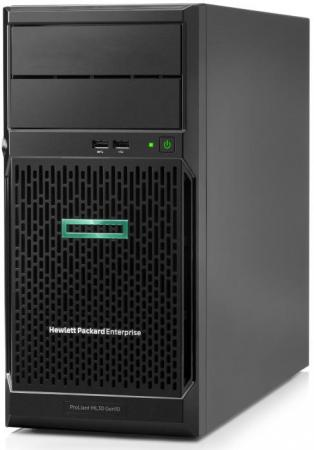 Купить Сервер HPE Proliant ML30 Gen10, E-2124, 1x8GB, No HDD (4/6x3.5 NHP), S100i (RAID 1/1/10/5), No ODD, 2x1GbE, iLO std, 1x350W, Tower, 3-1-1 Warranty