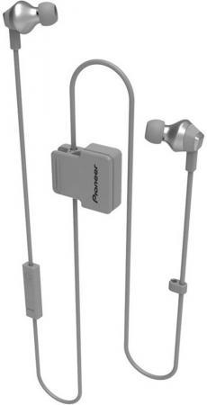 Гарнитура вкладыши Pioneer SE-CL6BT-H серый беспроводные bluetooth (шейный обод) гарнитура