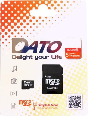 Флеш карта microSDHC 16Gb Class10 Dato DTTF016GUIC10 флеш карта м