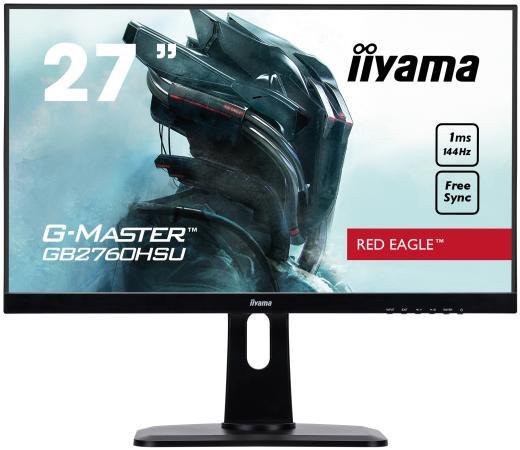 Монитор 27 iiYama GB2760HSU-B1 черный TN 1920x1080 400 cd/m^2 1 ms HDMI DisplayPort Аудио USB монитор 27 iiyama b2783qsu b1 черный tft tn 2560x1440 350 cd m^2 1 ms dvi hdmi displayport usb аудио