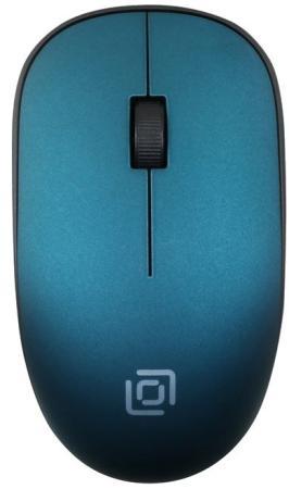 Мышь Oklick 515MW черный/зеленый оптическая (1000dpi) беспроводная USB (2but) мышь беспроводная oklick 685mw черный оптическая 1200dpi usb 2but