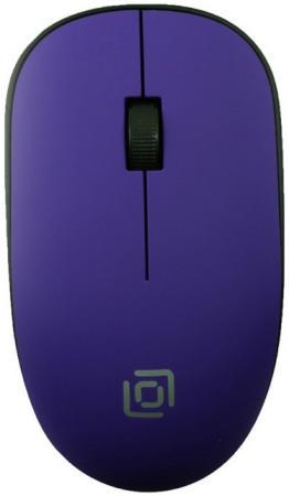 лучшая цена Мышь Oklick 515MW черный/пурпурный оптическая (1200dpi) беспроводная USB (3but)