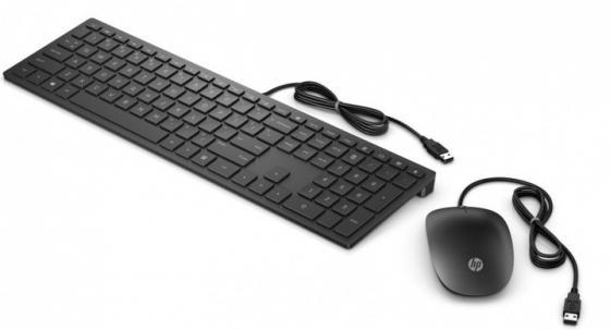 Клавиатура + мышь HP Pavilion 400 клав:черный мышь:черный USB slim клавиатура hp ytn черный usb slim
