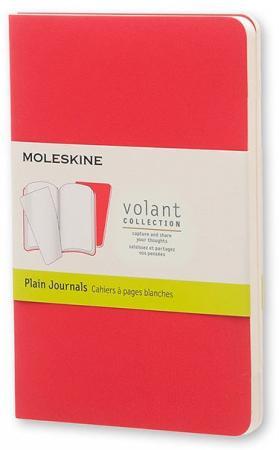 Блокнот Moleskine VOLANT QP713F14F2 Pocket 90x140мм 80стр. нелинованный мягкая обложка бордовый/красный (2шт) цены онлайн