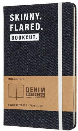 Блокнот Moleskine Limited Edition DENIM NOTEBOOKS LCDNQP060S Large 130х210мм 240стр. линейка Skinny блокнот moleskine limited edition transformers large 130х210мм 240стр линейка optimus prime