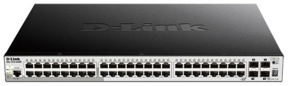 Коммутатор D-Link DGS-1510-52XMP/A1A 48G 4SFP+ 48PoE 370W настраиваемый коммутатор d link dgs 1510 28 a1a dgs 1510 28 a1a