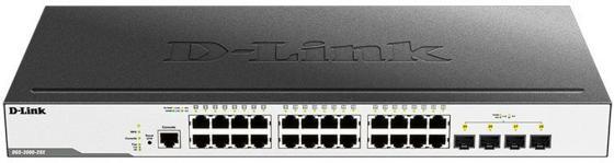 Коммутатор D-Link DGS-3000-28X DGS-3000-28X/B1A 24G 4SFP+ управляемый межсетевой экран d link dsr 500 b1a гигабитный сервисный маршрутизатор с резервированием wan портов