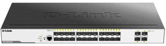 Коммутатор D-Link DGS-3000-28XS DGS-3000-28XS/B1A 24SFP 4SFP+ управляемый межсетевой экран d link dsr 500 b1a гигабитный сервисный маршрутизатор с резервированием wan портов
