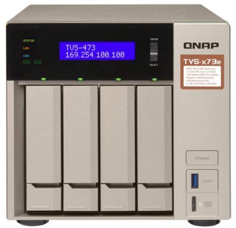Сетевое хранилище NAS Qnap Original TVS-473E-8G 4-bay схд настольное исполнение 8bay no hdd tvs 873e 8g qnap