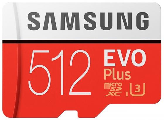 Карта памяти MicroSDXC 512GB Samsung EVO Plus v2 UHS-I U3 + SD Adapter (R100/W90Mb/s) (MB-MC512GA/RU) карта памяти samsung microsdxc evo v2 128gb adapter mb mc128garu