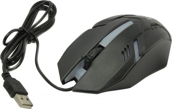 Мышь оптическая Сyber MB-560L 7 цветов, 3 кнопки, 1200 dpi, USB, черный DEFENDER taiwai tr 560l вариегата