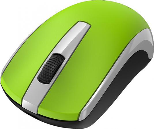 Мышь беспроводная Genius ECO-8100, 2.4 GHz, 800-1600 dpi, встроенный аккумулятор, Green аккумулятор
