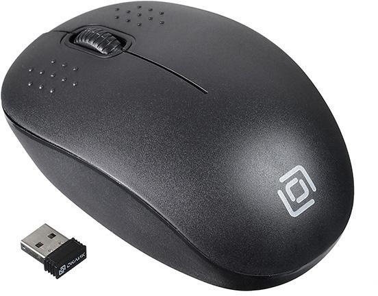 Мышь беспроводная Oklick 685MW черный оптическая (1200dpi) USB (2but) мыши oklick мышь oklick 475mw черный серый оптическая 1200dpi беспроводная usb 3but