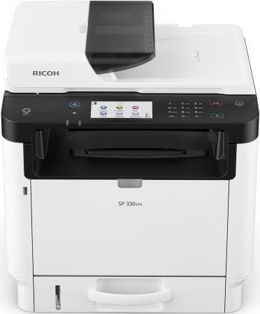 МФУ Ricoh SP 330SFN <картридж 1000стр.> (копир-принтер-сканер-факс, ADF, duplex, 32стр./мин., 1200x600dpi, Wi-Fi, LAN, NFC, A4)