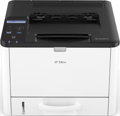 все цены на Принтер Ricoh SP 330DN <картридж 1000стр.> (Лазерный, 32 стр/мин, 1200х600dpi, duplex, LAN, NFC, USB, А4) онлайн