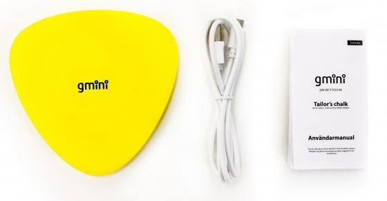 Фото - Беспроводное зарядное устройство Gmini GM-WCT-TC01V8 1A microUSB желтый беспроводное зарядное устройство buro cwc qc1 qc3 0 microusb 1a черный