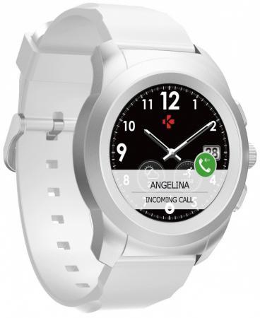 Гибридные смарт часы MyKronoz ZeTime Original Regular цвет матовое серебро/белый смарт часы mykronoz zetime original petite 42 9мм 1 05 серебристый белый [brushed silver white]