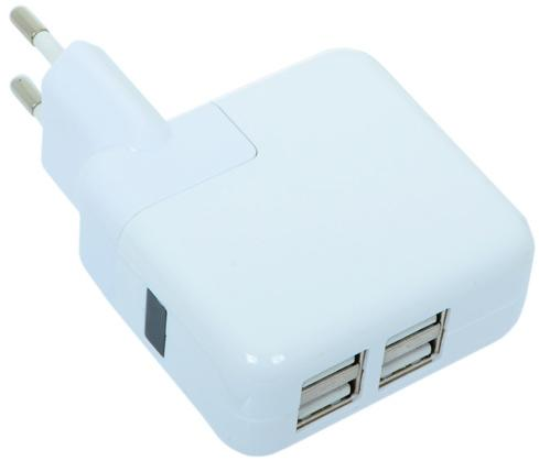 Фото - Сетевое зарядное устройство Gmini GM-WC-184-4USB белый беспроводное зарядное устройство gmini gm wct tc01v8 1a microusb желтый