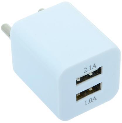Фото - Сетевое зарядное устройство Gmini GM-WC-197-2USB 2.1/1А белый беспроводное зарядное устройство gmini gm wct tc01v8 1a microusb желтый