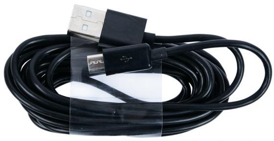 Кабель Gmini GM-DC-200B-3M, USB-microUSB, 3м, чёрный