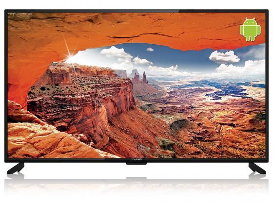 Фото - Телевизор LED 55 Yuno ULX-55UTCS328 черный 3840x2160 Wi-Fi Smart TV RJ-45 телефонная розетка rj11 слоновая кость wl03 rj 11 ivory 4690389046254