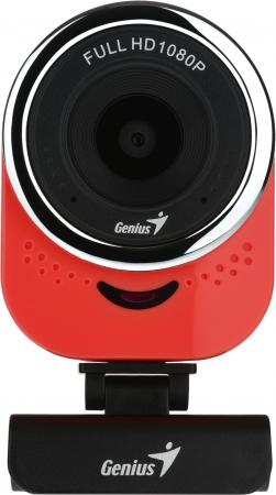 Веб-Камера Genius QCam 6000, red, Full-HD 1080p, universal clip, 360 degree swivel, USB, built-in microphone, rotation 360 degree, tilt 90 degree цена в Москве и Питере