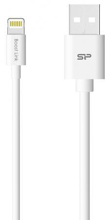 Кабель Lightning 1м Silicon Power SP1M0ASYLK10AL1W круглый белый цена и фото