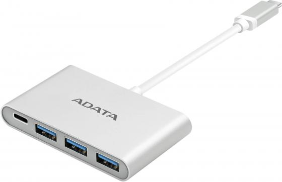 цена на Концентратор A-DATA USB-C - 3 порта USB-A 3.1, Silver