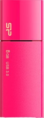 Флеш накопитель 8Gb Silicon Power Blaze B05, USB 3.0, Розовый цена