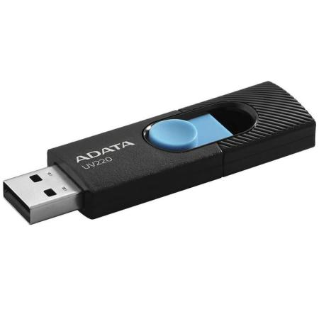 Фото - Флешка 64Gb A-Data AUV220-64G-RBKBL USB 2.0 черный голубой AUV220-64G-RBKBL usb flash drive 64gb a data dashdrive uv128 usb 3 0 auv128 64g rby