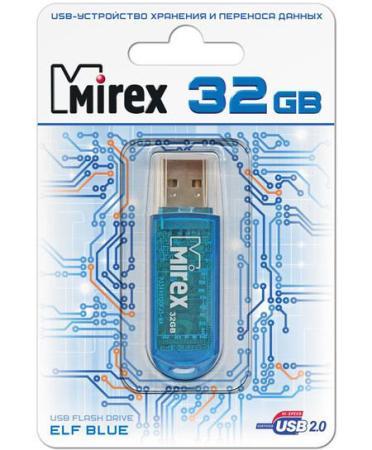 Фото - Флеш накопитель 32GB Mirex Elf, USB 2.0, Синий флеш накопитель 64gb mirex elf usb 2 0 синий