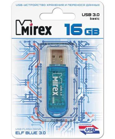 Фото - Флеш накопитель 16GB Mirex Elf, USB 3.0, Синий флеш накопитель 64gb mirex elf usb 2 0 синий