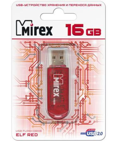 Фото - Флеш накопитель 16GB Mirex Elf, USB 2.0, Красный флеш накопитель 64gb mirex elf usb 2 0 синий